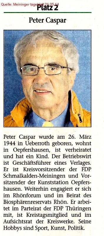 Listenplatz 2 Peter Casper