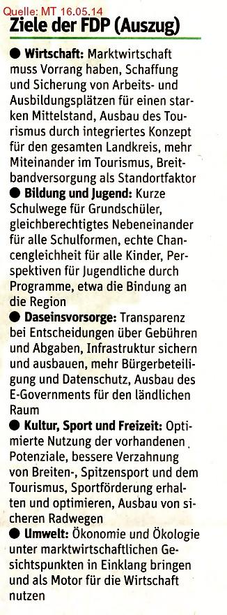 Ziele der FDP (Auszug)