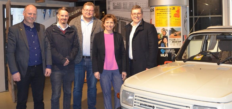 Nicola Beer in Thüringen: Nicola Beer zu Gast im Lutherhaus und im Automobilmuseum in Eisenach