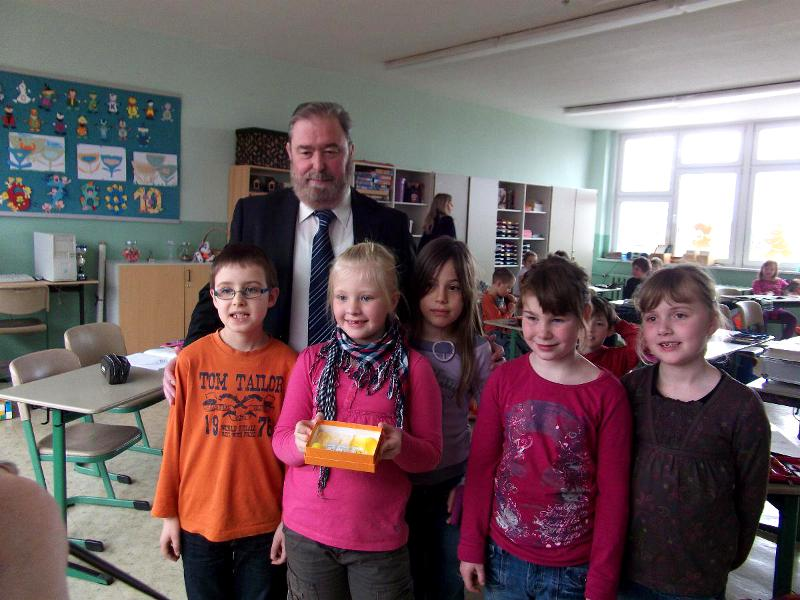 Heinz Untermann mit Kindern
