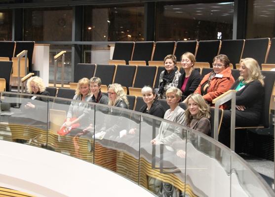 Liberale Frauen verfolgen Sitzung des Landtags