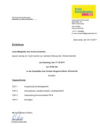 Sitzung v. 17.10.2017 19°°