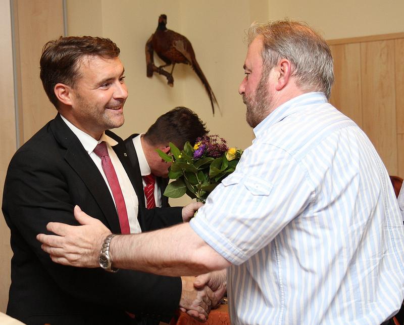 Heinz Untermann, MdL gratuliert Patrick Kurth, MdB
