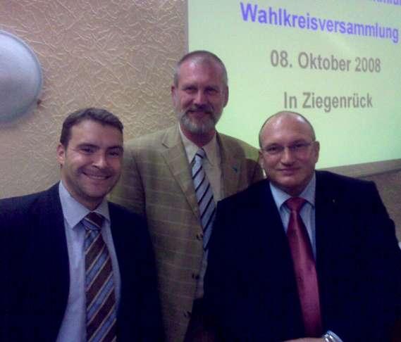 Kandidaten Bergner (r.) und Borchardt (m.)