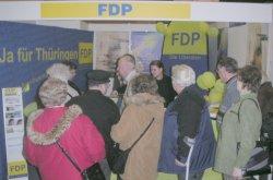 Viel los am am FDP-Stand