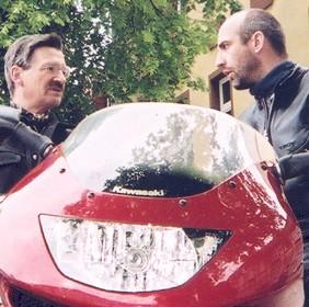 Sterzik und Hermann Otto Solms im Wahlkampf 2004
