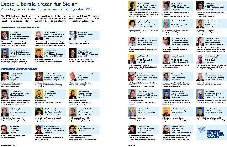 Diese Kandidaten treten für die FDP an