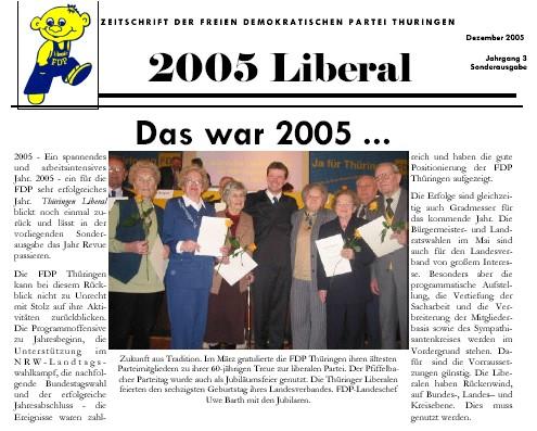 Thüringen Liberal zum Jahresabschluss