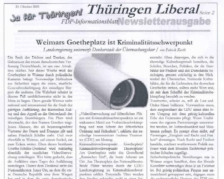 Thüringen Liberal - Das liberale Sprachrohr
