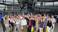 Thüringer Besucher in der Reichstagskuppel
