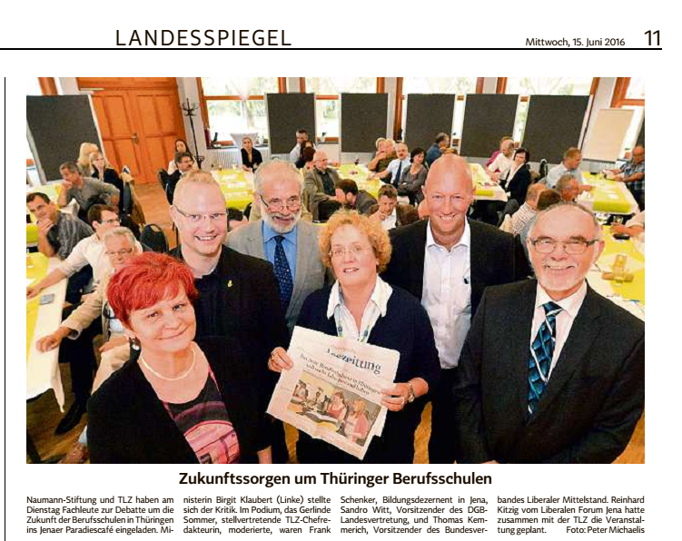 Thüringische Landeszeitung 15. Juni 2016