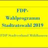 Stadtratswahlprogramm FDP Mühlhausen