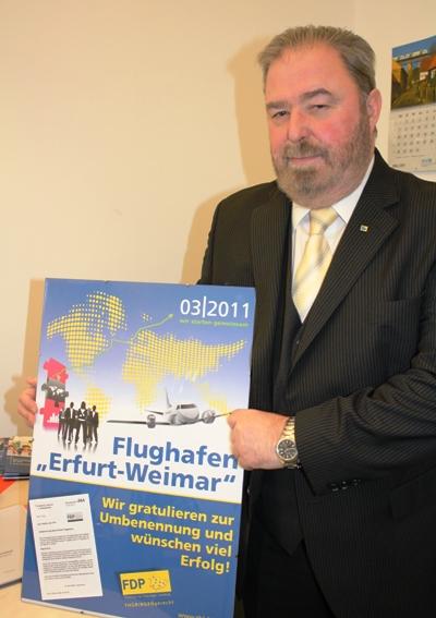 Umbenennung Flughafen Erfurt - Weimar