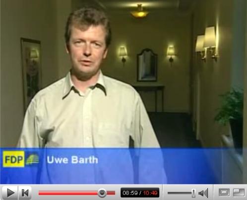 Landeschef Barth, MdB, bei youtube.com