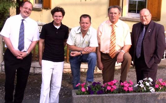 Dirk Bergner (r.) mit seinem neuem Vorstand