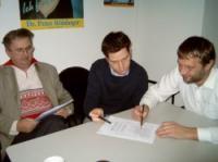 Ingo Reimann (r.) mit Landesvize Marcel Hardrath