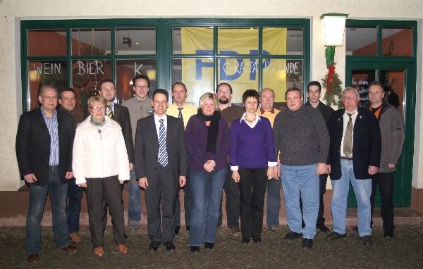 Der neu gewählte Kreisvorstand der FDP Nordhausen
