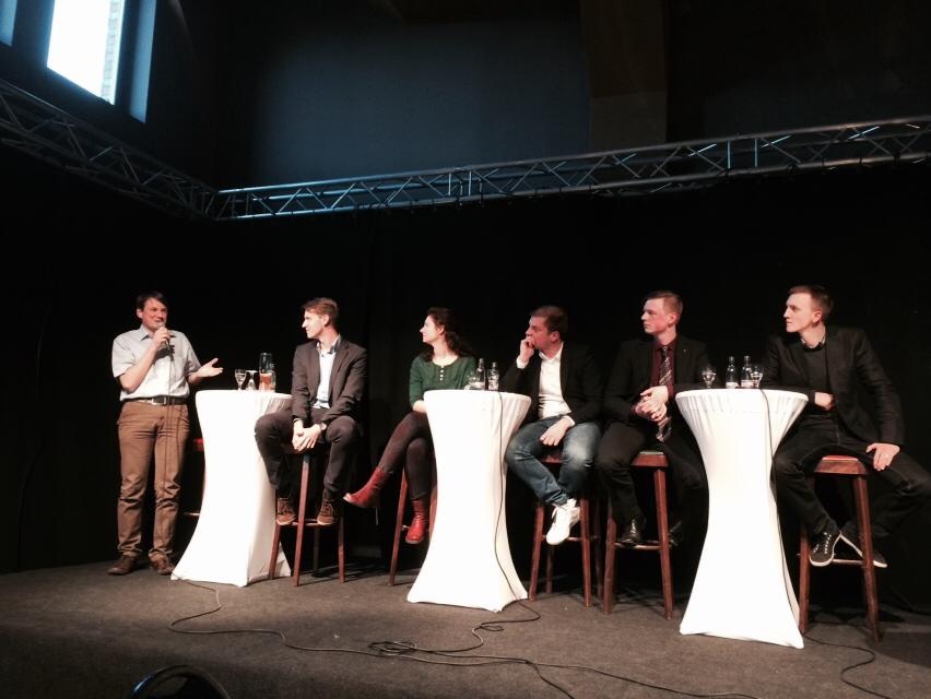 Diskussion der U35-Kandidaten im Londoner (Gotha)
