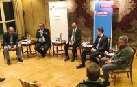 Hagen Hultzsch auf dem Podium zur OB-Wahl