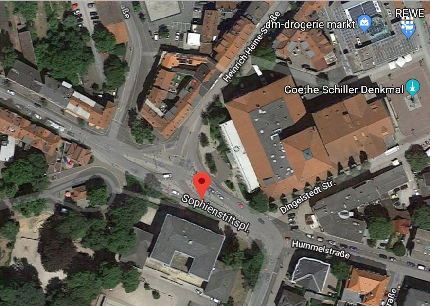 Sophienstiftsplatz in Weimar (Quelle Google)