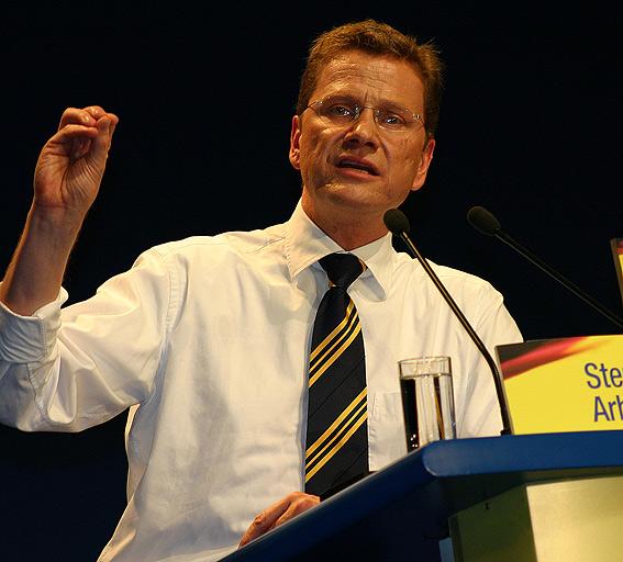 Guido Westerwelle während seiner Rede