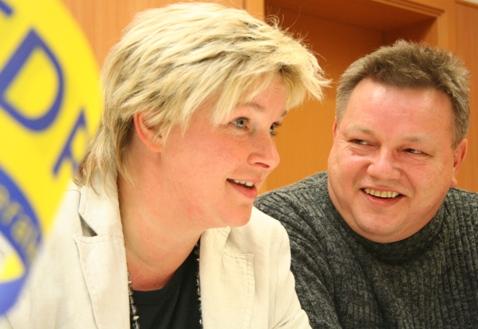 Franka Hitzing und Andreas Klaschka
